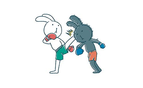 ゆるいうさぎたちのキックボクシング イラストエッセイのaieku