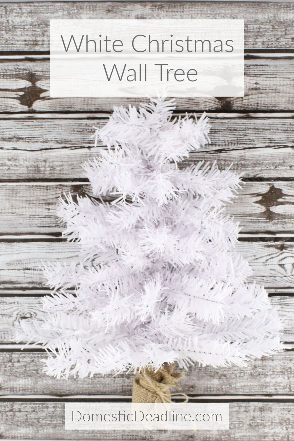 White Christmas Wall Tree Dollar Store Project Domestic Deadline Tree Wall Dollar Stores Dollar Store Diy Decorations