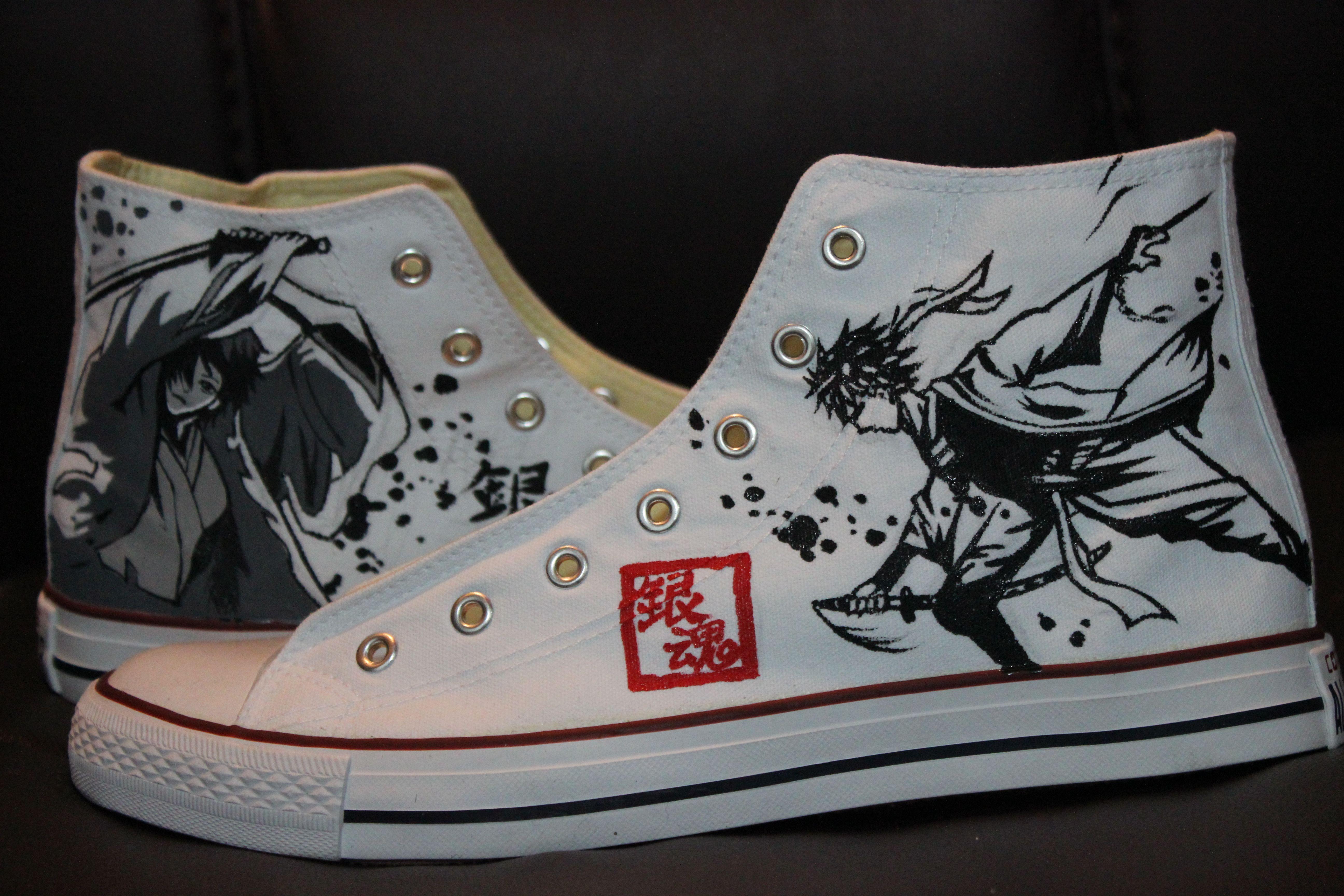 4cdb7f5dd0 Gintama Anime High-top Painted Canvas Shoes