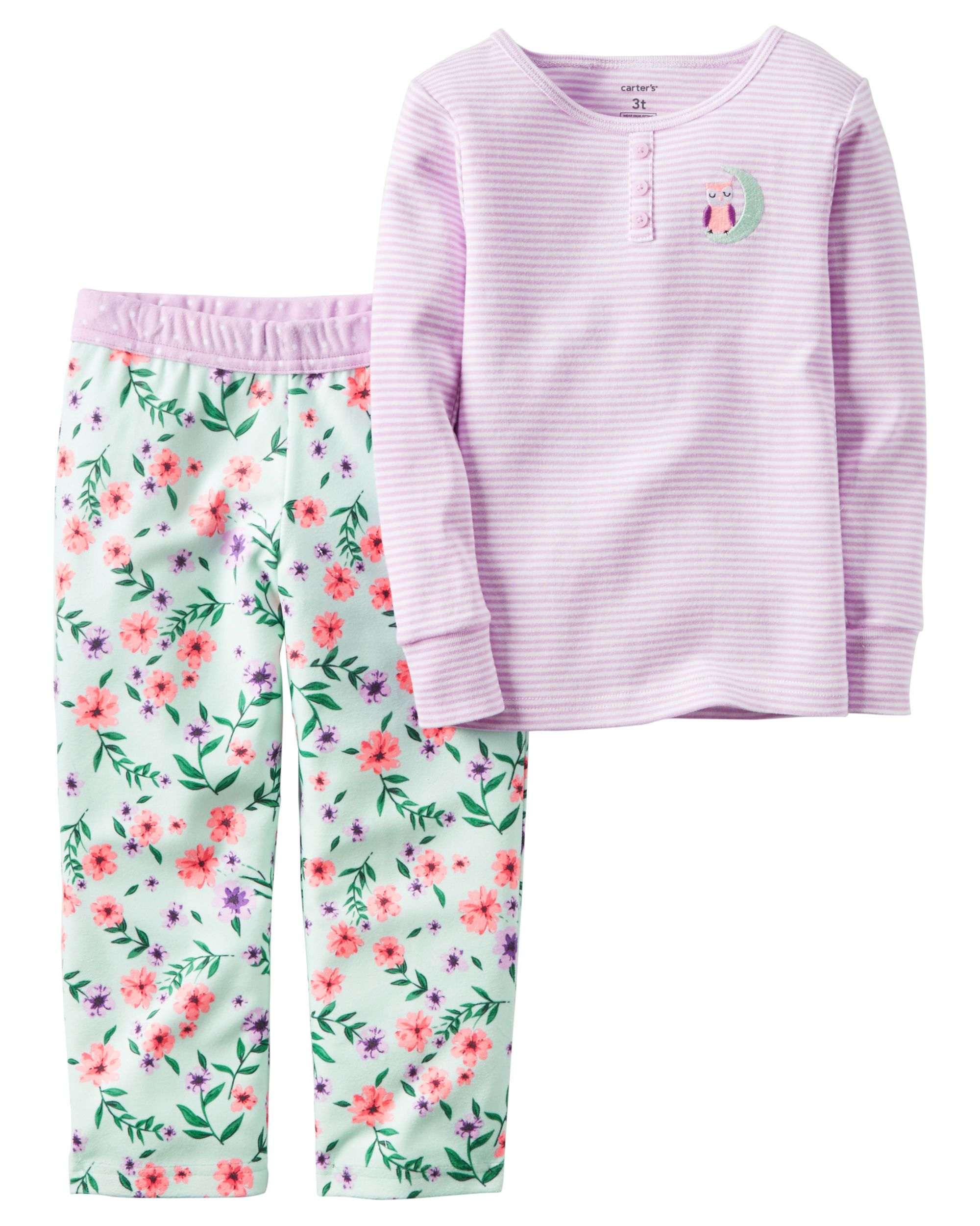 04229a99f5 2-Piece Cotton   Fleece PJs