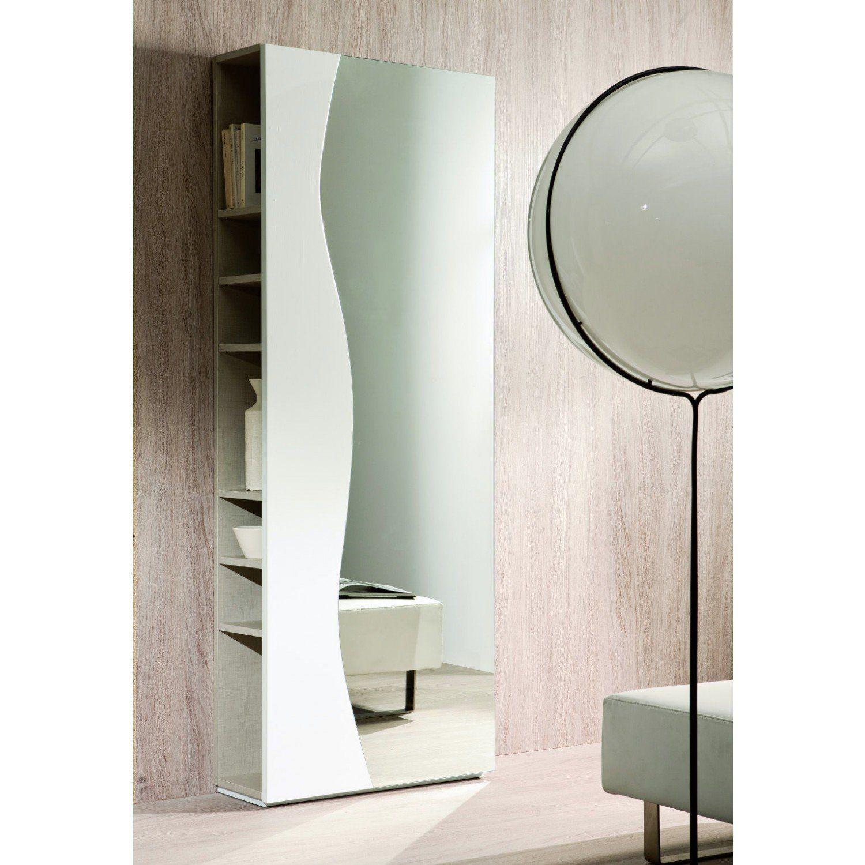 Mobile da ingresso con appendiabiti e specchio futura con vani a giorno laterali spunti per - Appendiabiti con specchio da parete ...