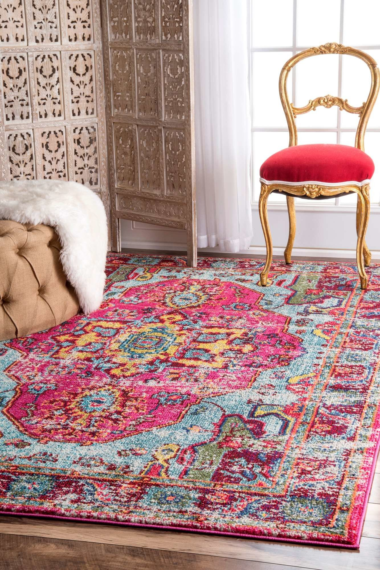 Loughlam Pink Area Rug Products Rugs Indoor