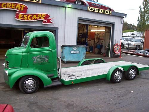 Early 40's Chevy COE with ultra low deck and front wheel drive. Need it!