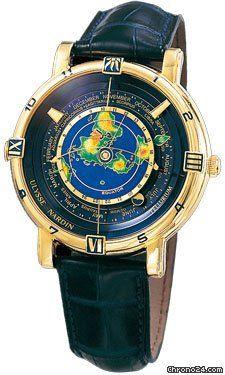 Ulysse Nardin Tellurium J. Kepler $88,690 #UlysseNardin #watch #watches #luxury #chronograph yellow gold case with leather bracelet and automatic movement