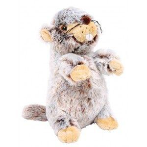 Deze eekhoorn is gemaakt van heel zacht materiaal en nodigd uit om te knuffelen.