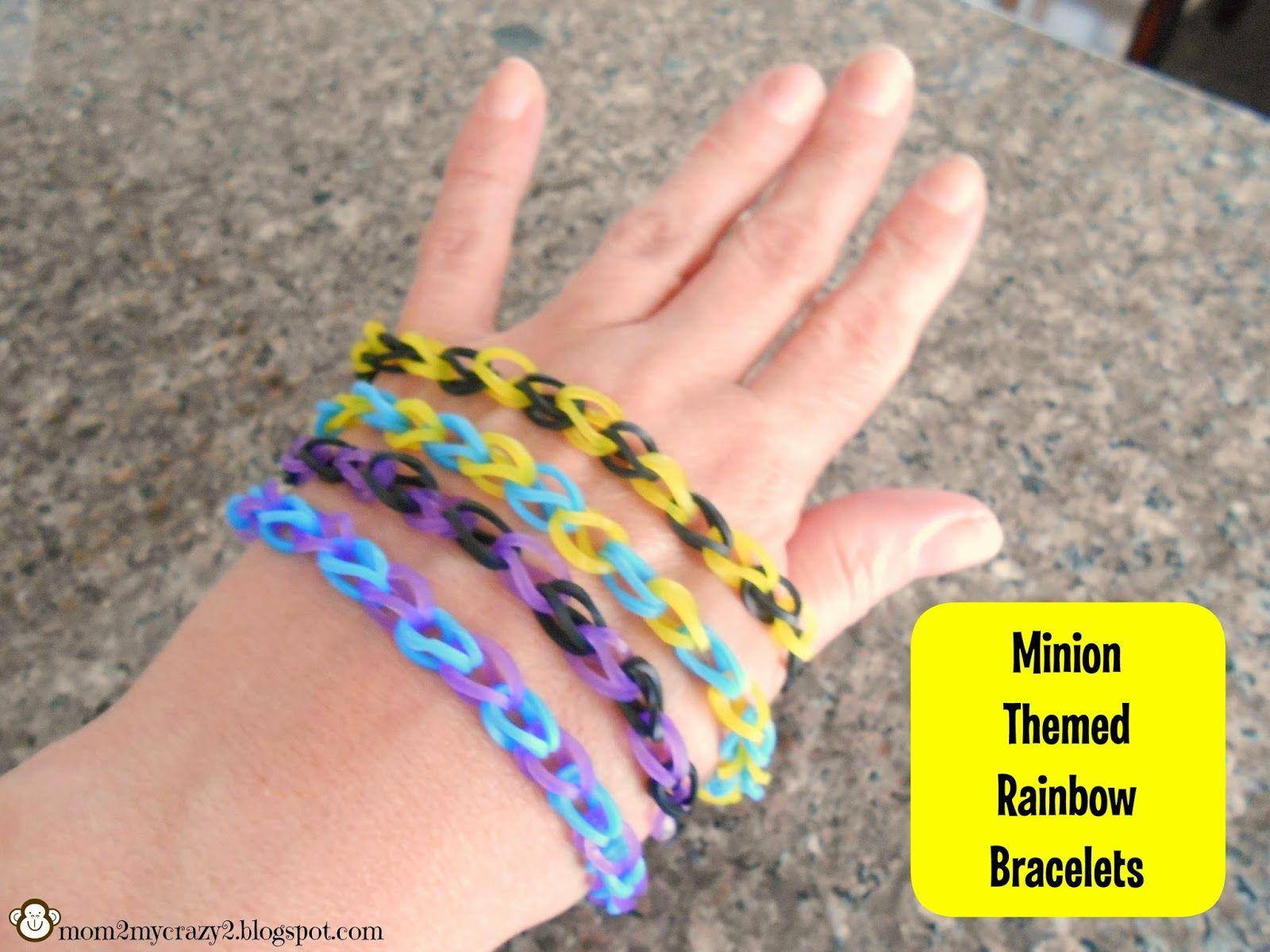 Despicable Me Birthday ... Minion Themed Rainbow Loom Bracelets ...