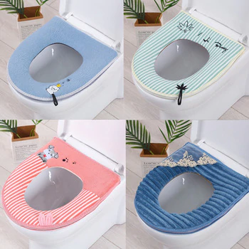 Warm Toilet Cover Seat Lid Cover Pad Bathroom Warmer Toilet Seat