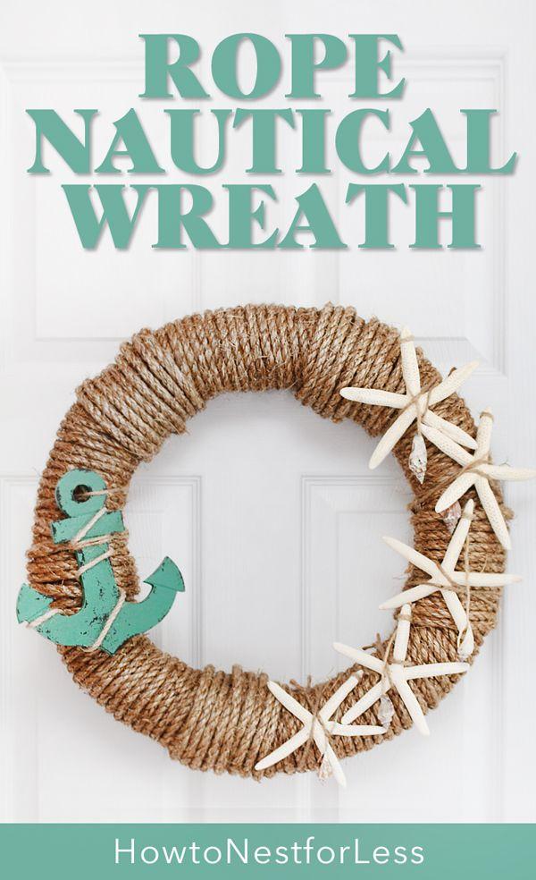 Rope Nautical Wreath Nautical Wreath Beach Crafts Beach Diy