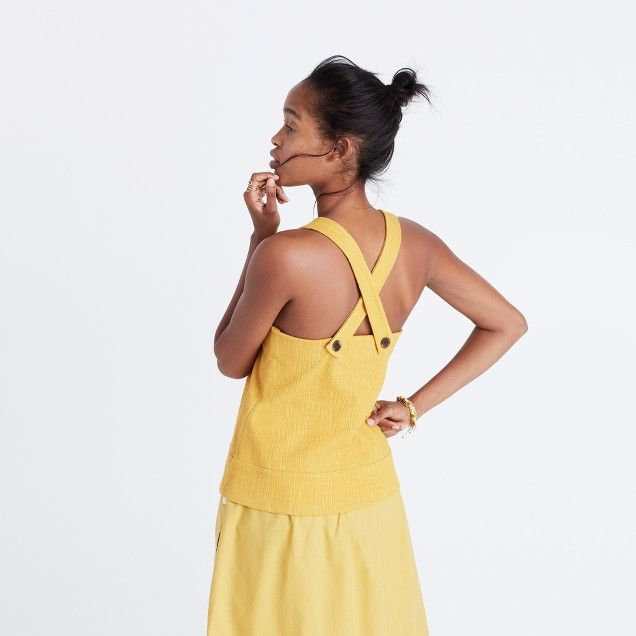 Apron Cross-Back Tank Top