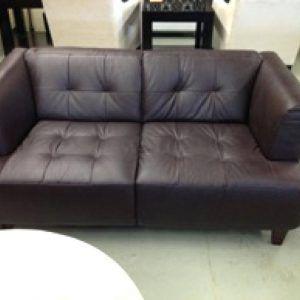 Alessia Leather Sofa Brown