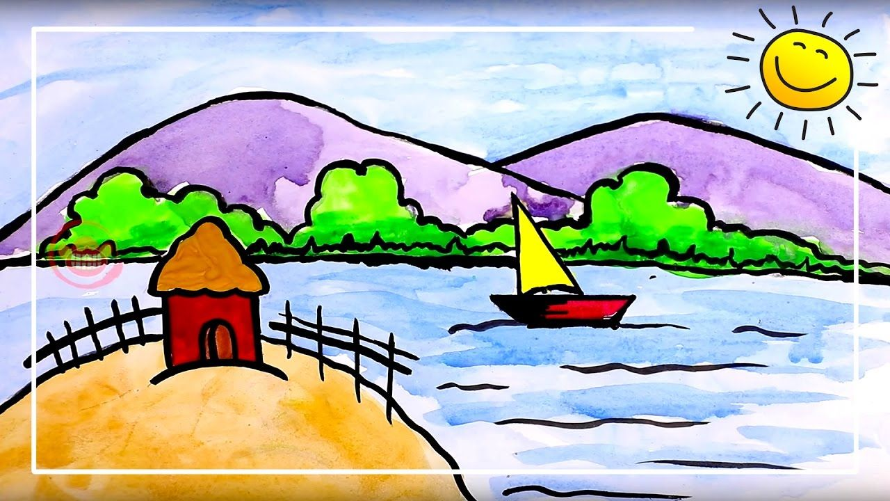 Swachhta Scenery Drawings Watercolor Painting On Cleanliness Scenery Drawing For Kids Nature Drawing For Kids Nature Drawing