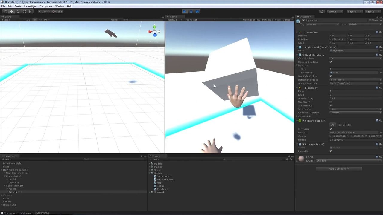 Learn how to develop for the HTC Vive using Unity and Steam VR | FL