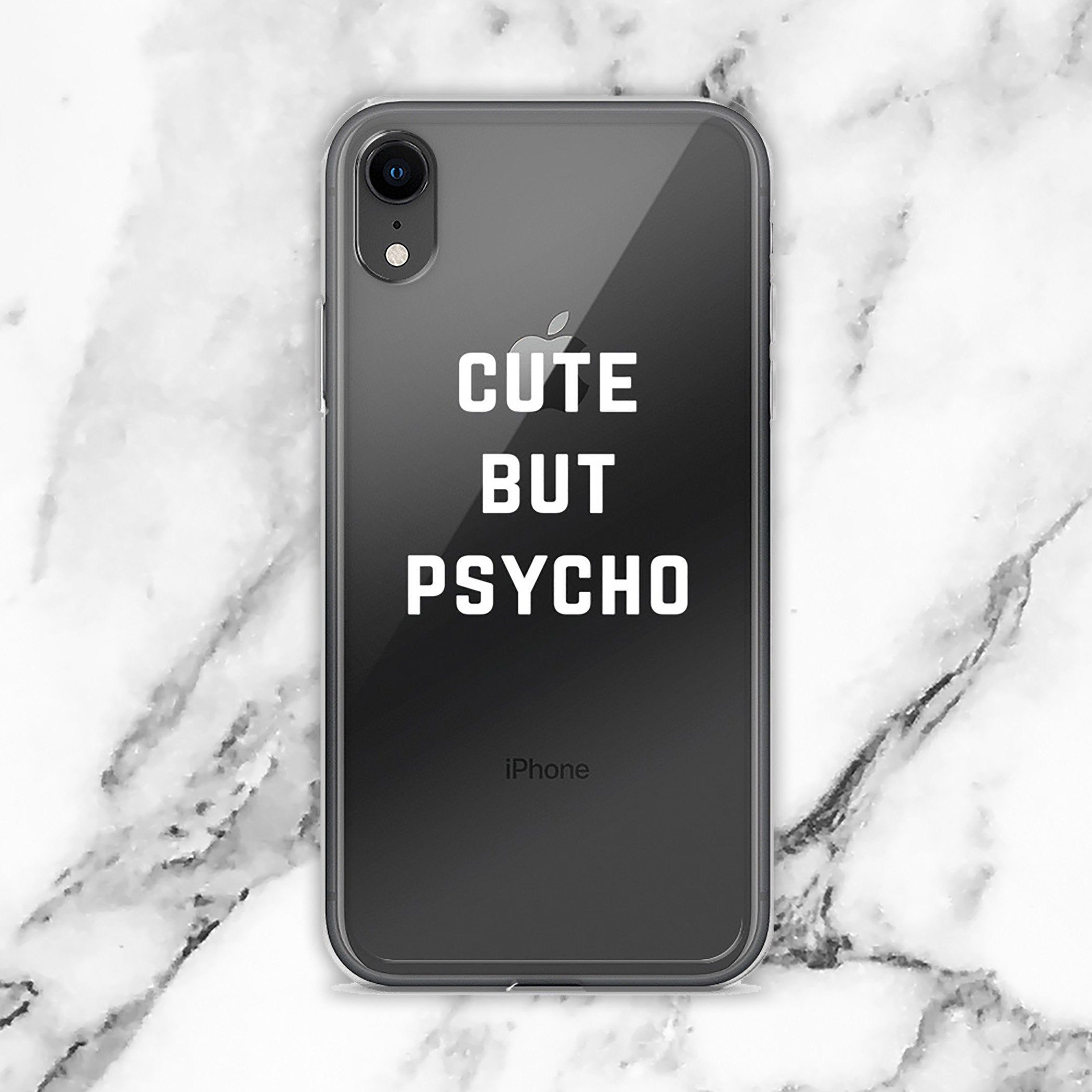 Cute But Psycho Iphone Case Etsy Iphone Case Etsy Clear Iphone Case Iphone Cases