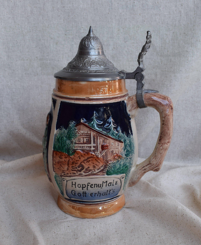 McCoy Pottery Beer Stein Mug Lanchester 1895