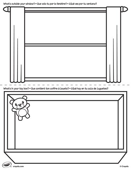 First Pages Window And Toy Box Coloring Page Crayola Com