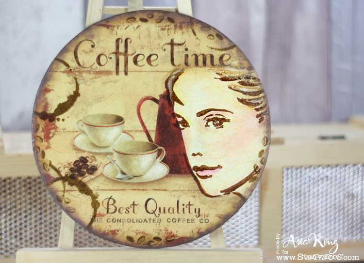 Coffee Time #wall art #DIY #home decor with Stampendous Stamps ...