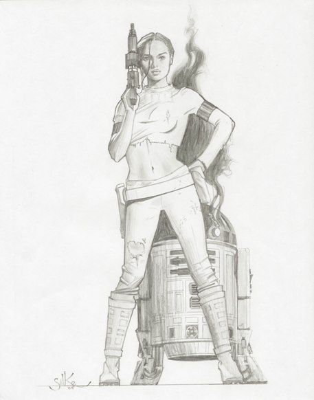 Padme & R2-D2 - Star Wars - Jim Silke | Padme | Pinterest | Galaxia ...