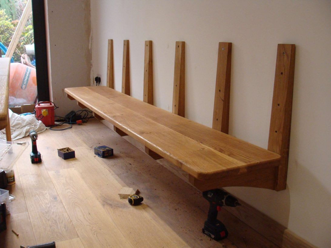 Top magnificent bench wall brackets hung oak mounted hardware