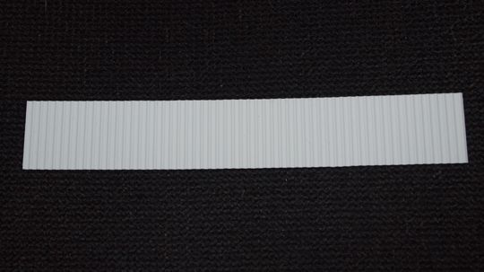 Z scale Metal Sea Wall (Sheet Pile) made from styrene.  1 piece.  # 010 002 300 011