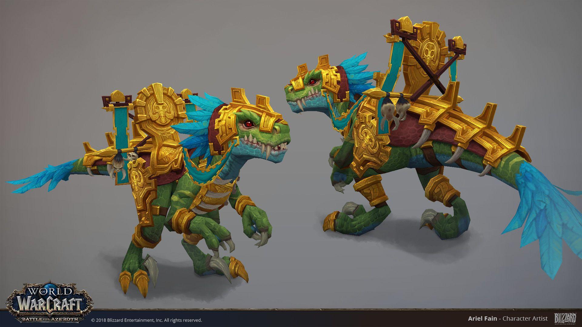 Artstation Bfa Ravasaur Ariel Fain World Of Warcraft Art