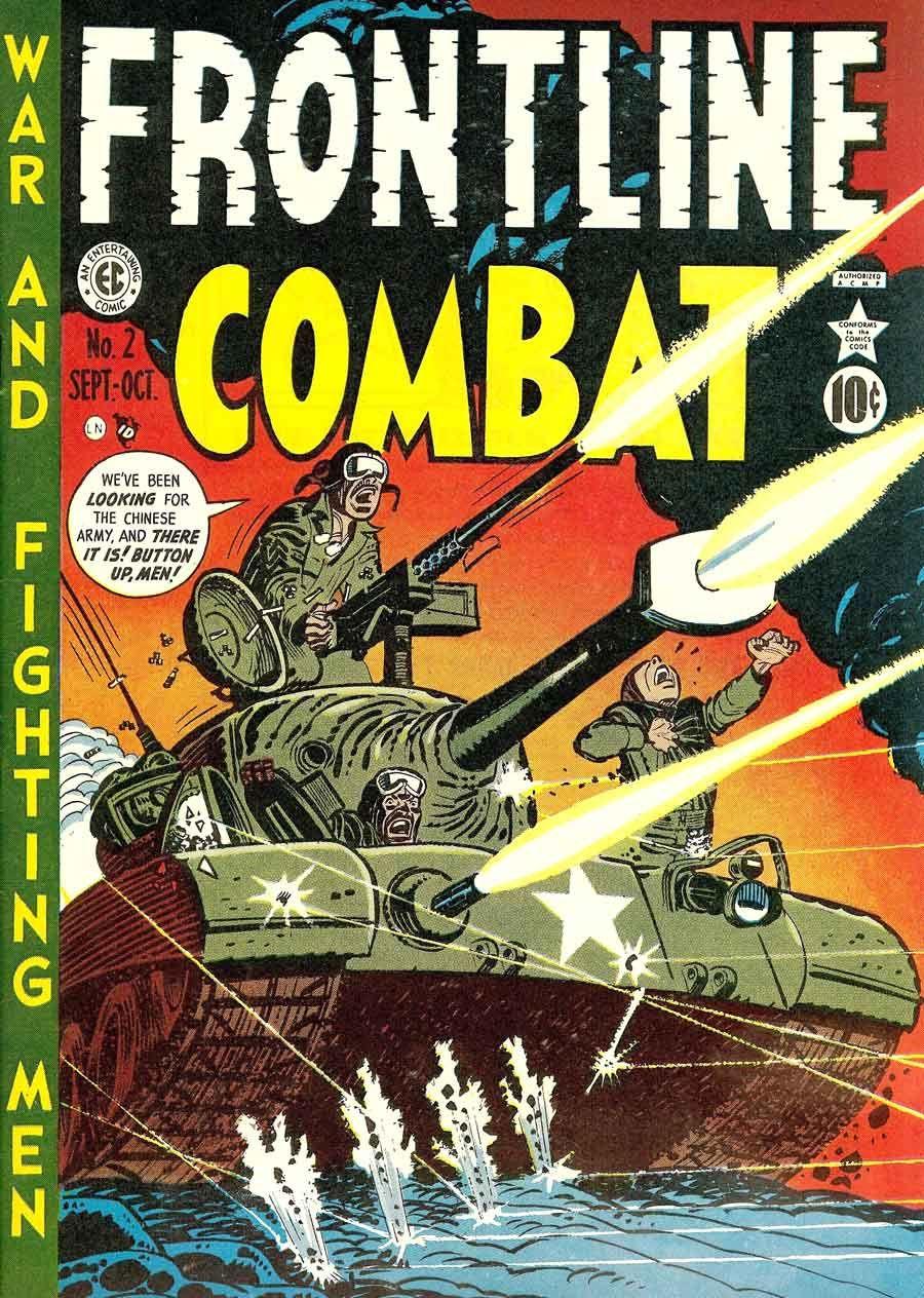 Harvey Kurtzman cover art...Frontline Combat #2 EC Comics, 1951