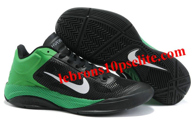 finest selection ec6c0 d1d90 Nike Zoom Hyperfuse Low 2010 Black White Lucky Green