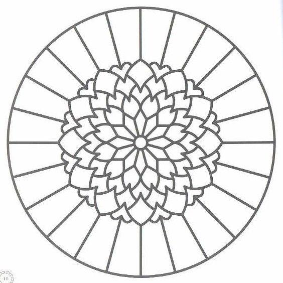 mandala art free coloring pages | Vass, Agi: Mandala Ablak Kepek I ...