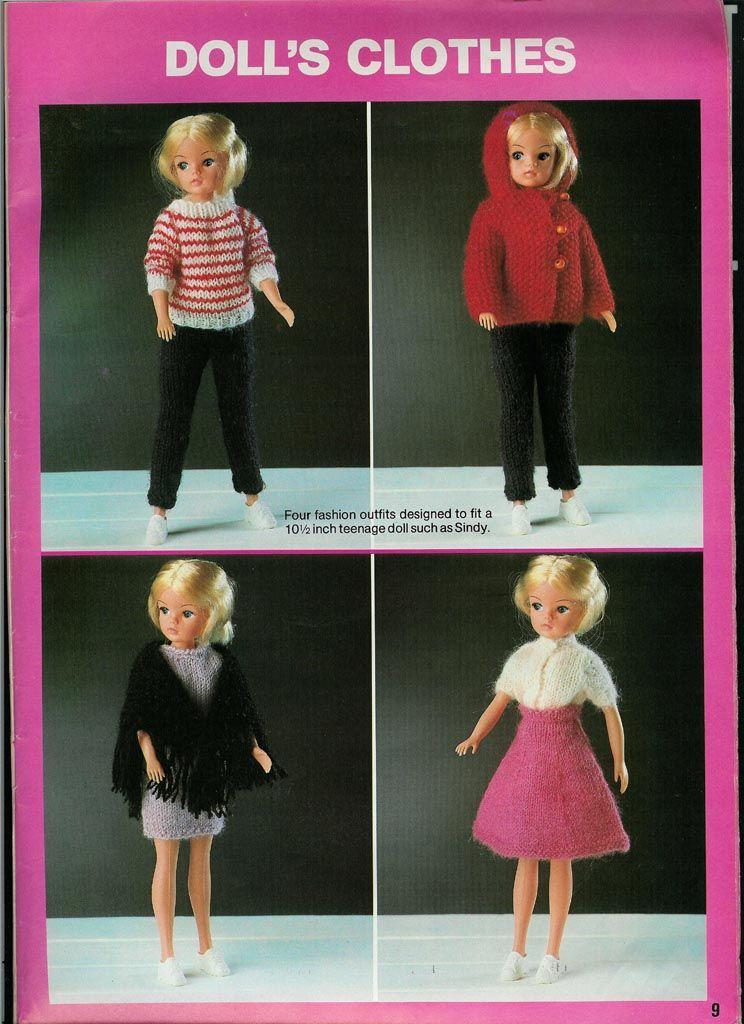Vintage Sindy Doll Knitting Pattern Barbie Patterns Pinterest