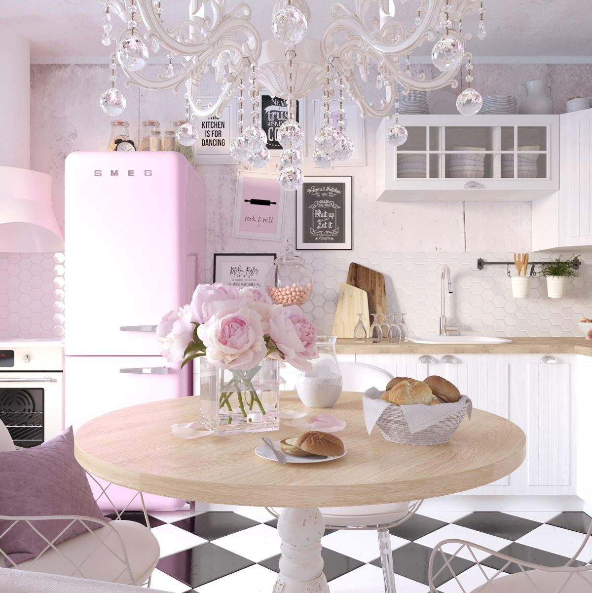 51 inspirational pink kitchens with tips accessories to help you design yours with images on kitchen decor pink id=90676