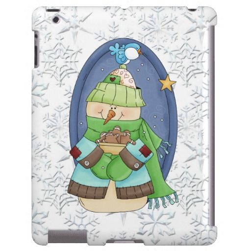 Christmas Snowman iPad barely there case