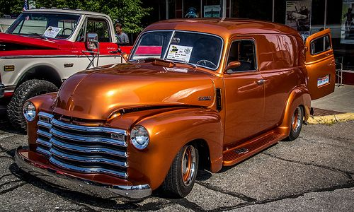 1947 Chevy Panel Truck Panel Truck Trucks Classic Cars Trucks Hot Rods
