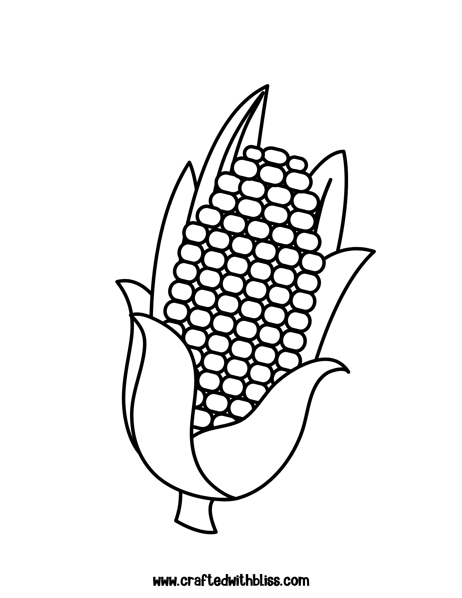Corn Coloring Pages Corn Coloring Pages Printable Thanksgiving Activities Thanksgiving Coloring Pages Unicorn Coloring Pages