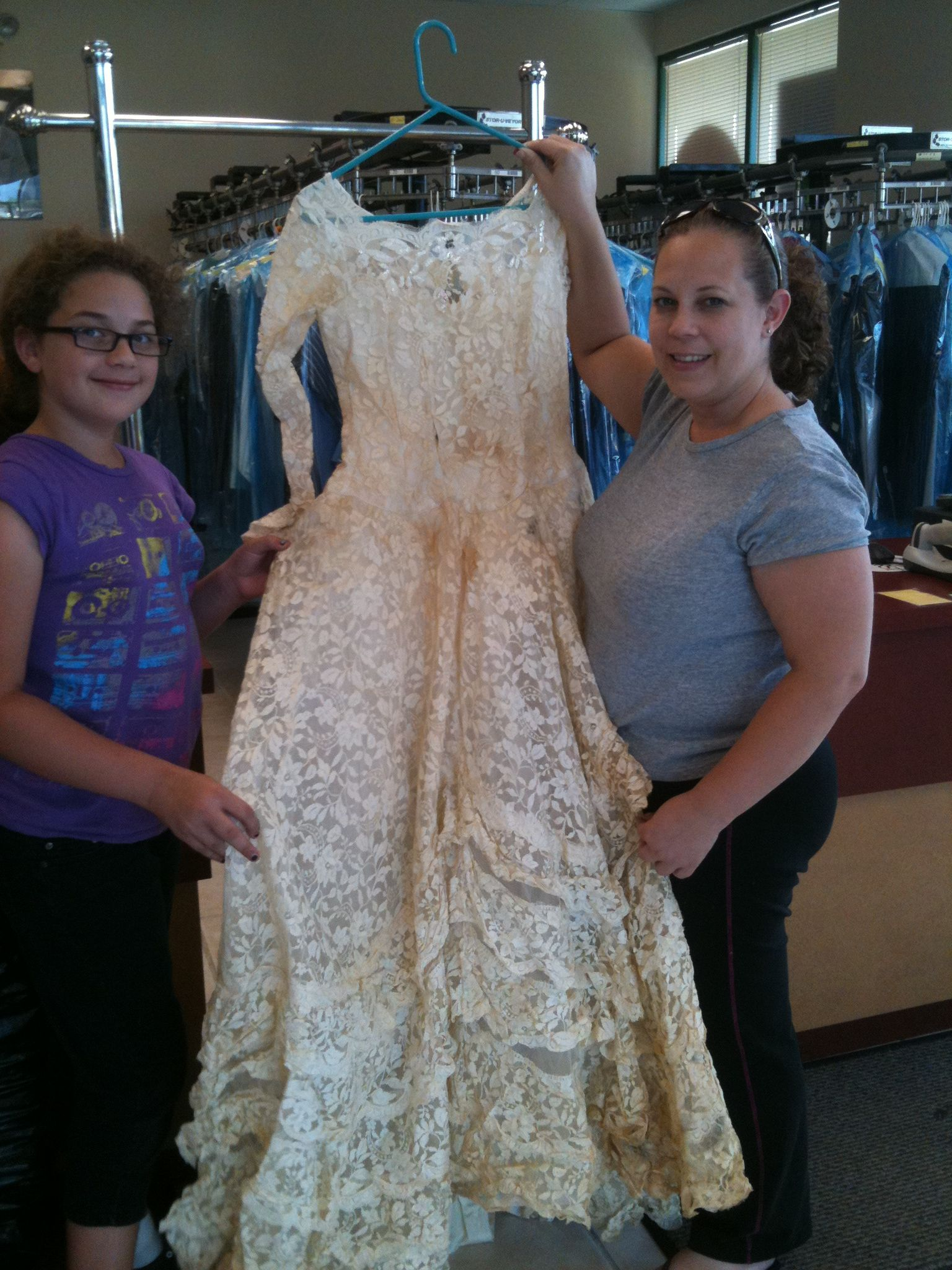 Mother and daughter brought grandma\'s gown for restoration. | Bridal ...