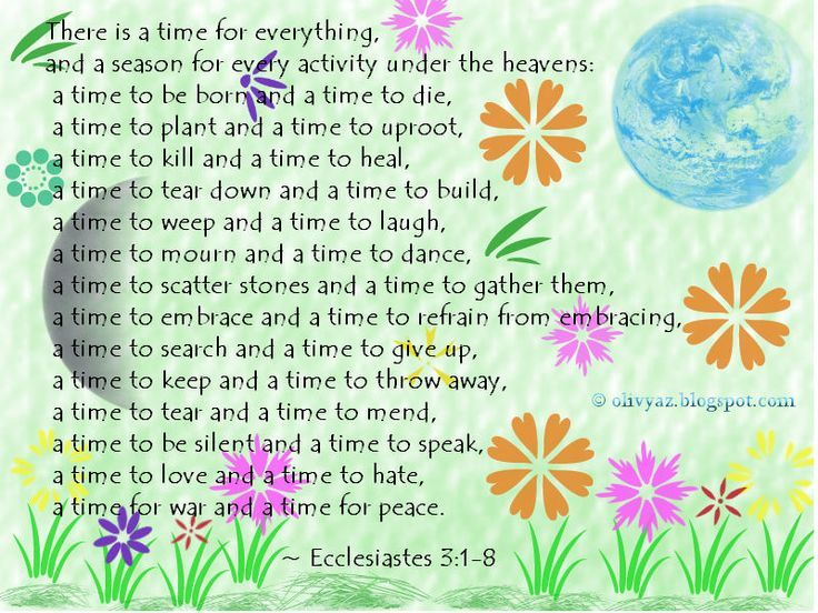 Image result for ecclesiastes 3 1-8 for everything there is a season