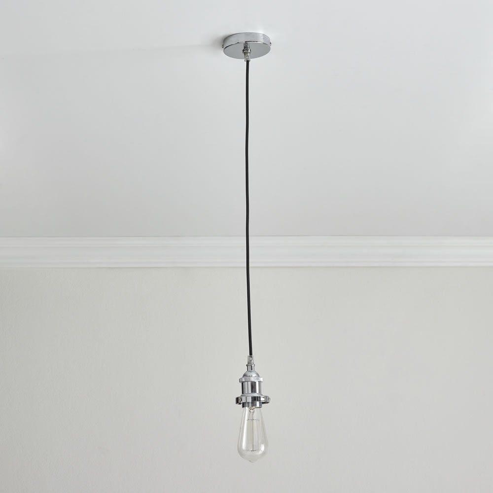 Wilko Chrome Finish Suspension Lighting Kit Image Suspension Light Light Fittings Ceiling Lamp Shades