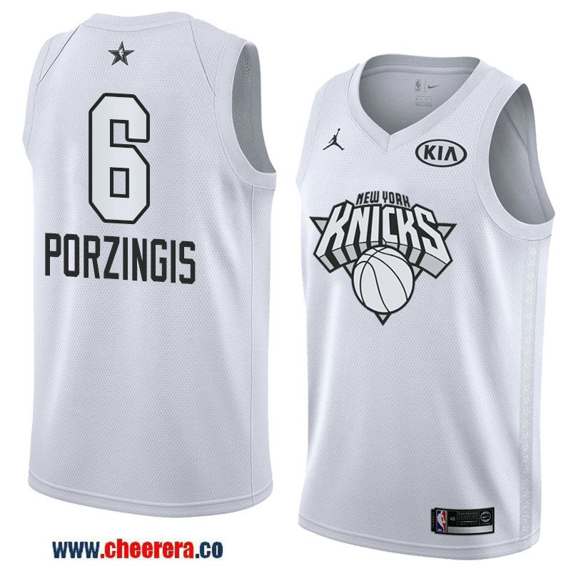 b0be26b11 ... hardwood classics jersey 6e829 588b0  inexpensive mens western  conference new york knicks 6 kristaps porzingis white 2018 nba all star  jersey