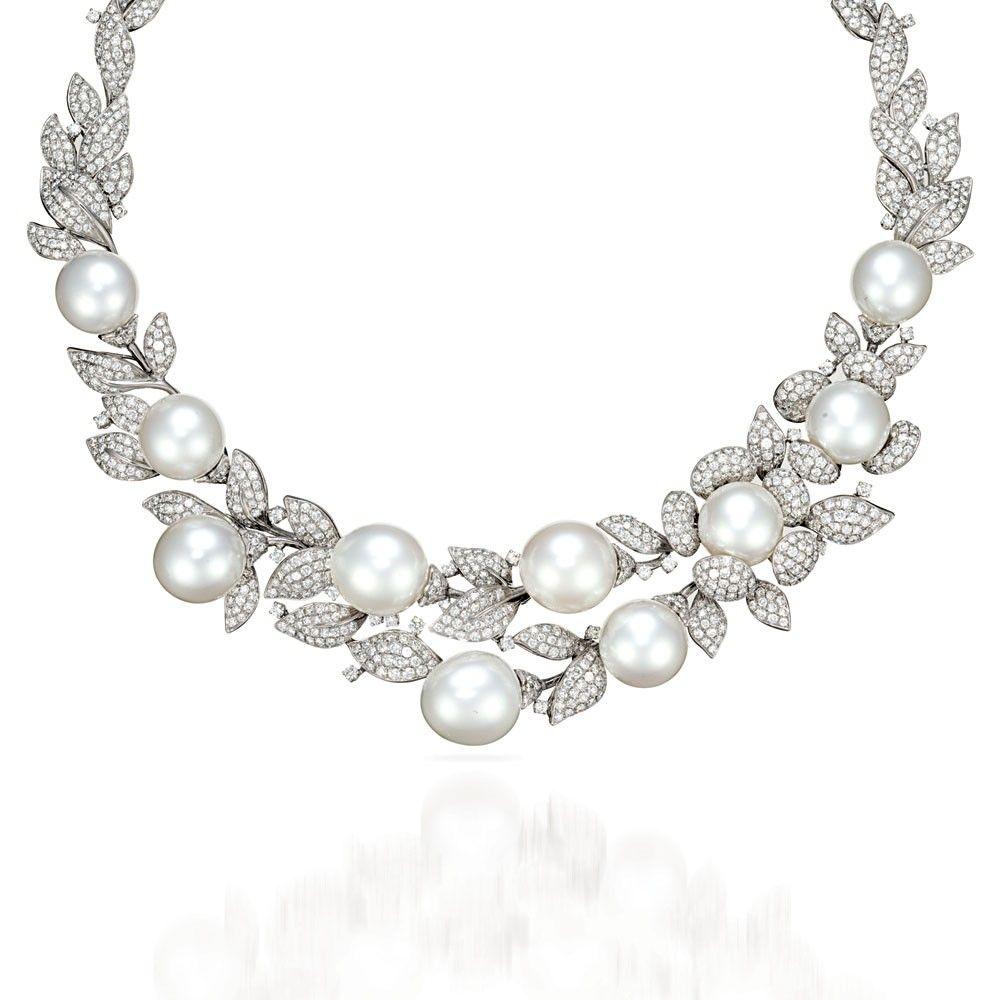 8a1f19aaed75f 15 Designs Of Amazing Diamond Necklaces | Necklaces | Pearl, diamond ...