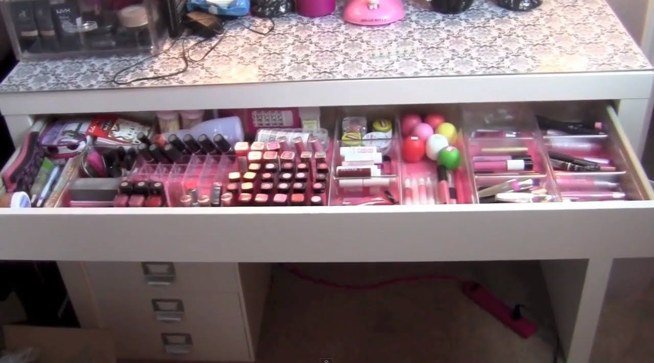 How to fix the drawer of the ikea malm vanity table this - Malm dressing table drawer organizer ...