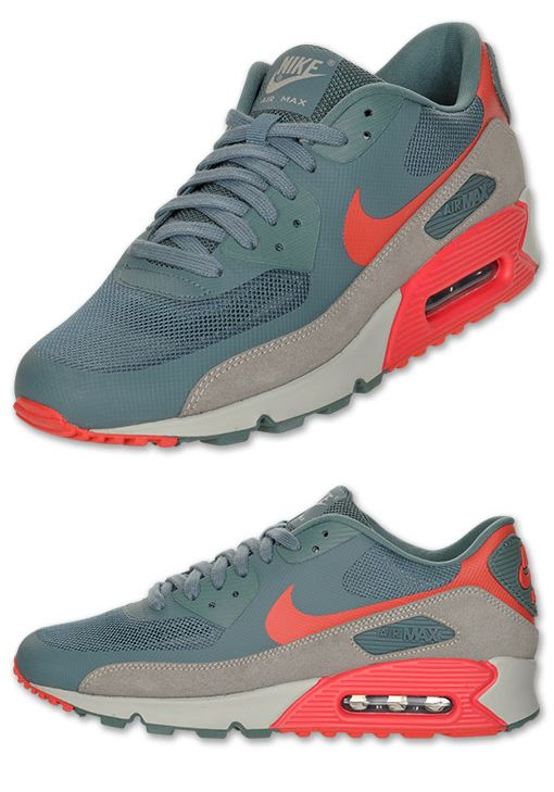 buy online 11129 f3269 Nike Air Max 90 Hyperfuse  Hasta Granite  at Finish Line. Grey green  Hyperfuse upper with tan and orange accents.