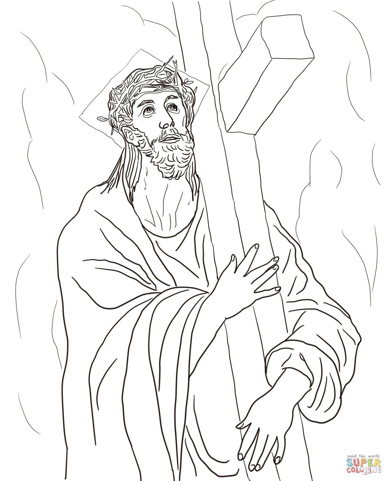 Excepcional Dibujo De Jesus Cross Para Colorear Ideas - Dibujos Para ...