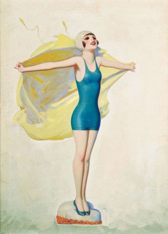 Illustration by Enoch Bolles. There's something about this illustration that instantly makes me want to be in the ocean.