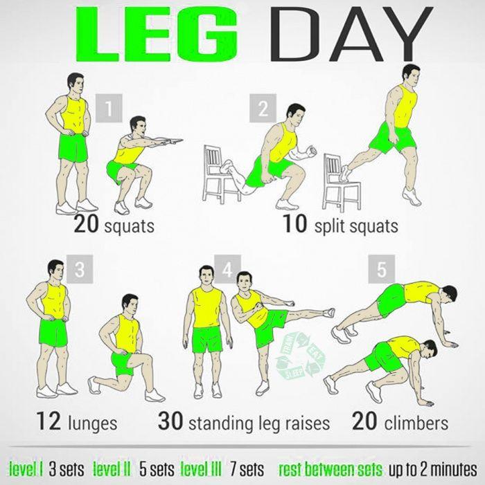 Home Leg Workout Bodybuilding