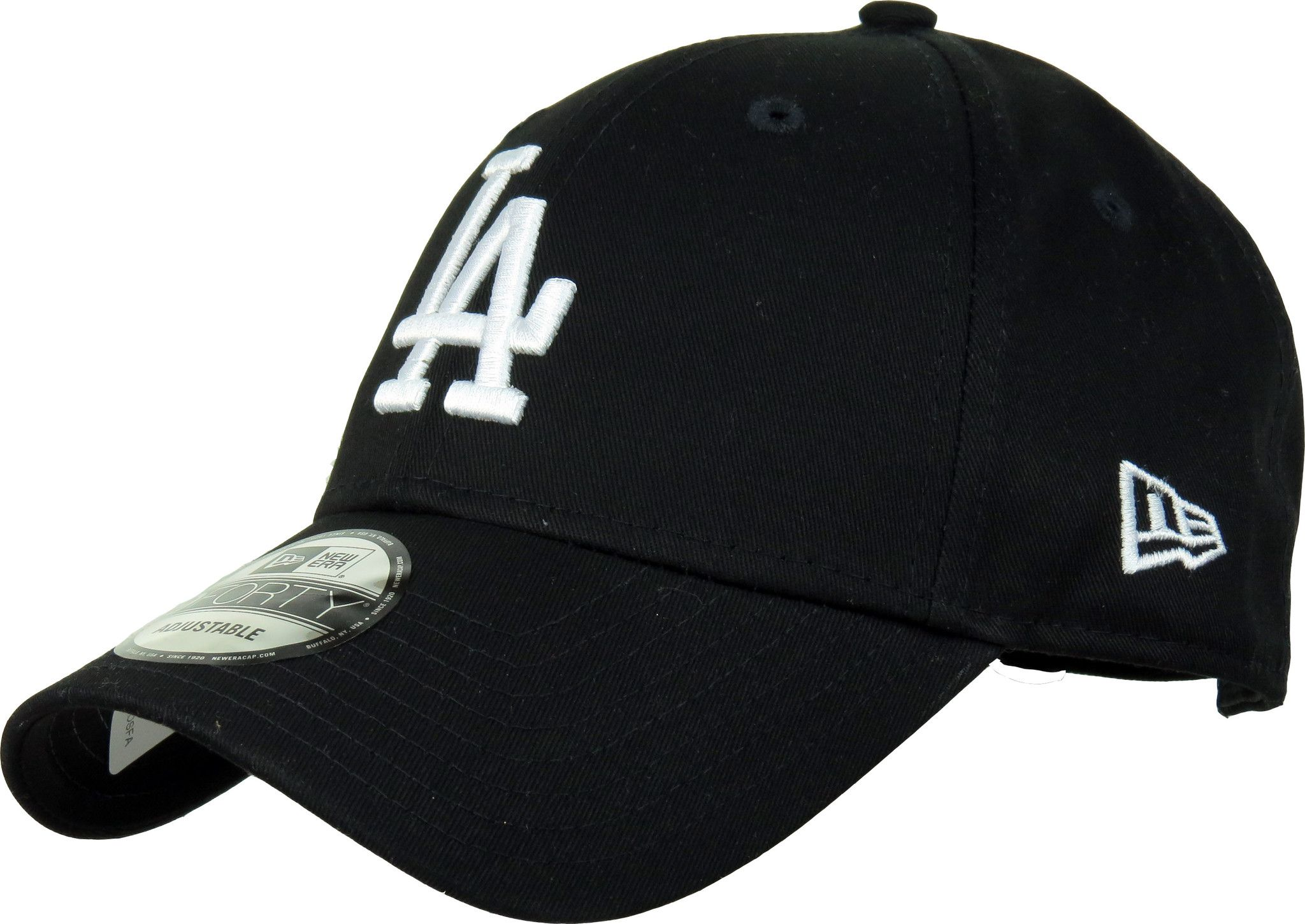 LA Dodgers New Era 940 League Essential Black Baseball Cap  2bb04b3f650