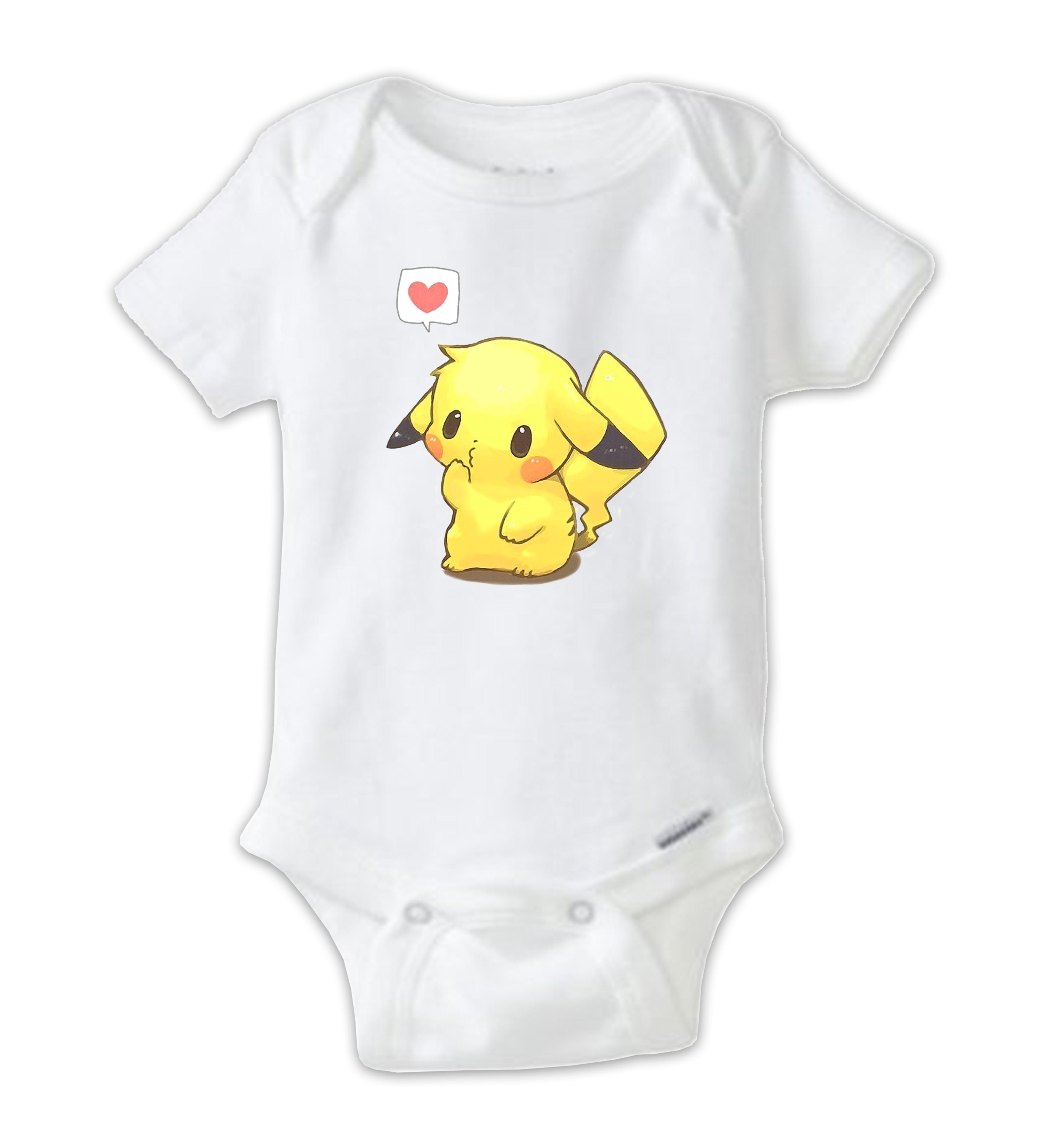 Cute Pokemon Pikachu Baby Bodysuit esie Pikachu esie Baby