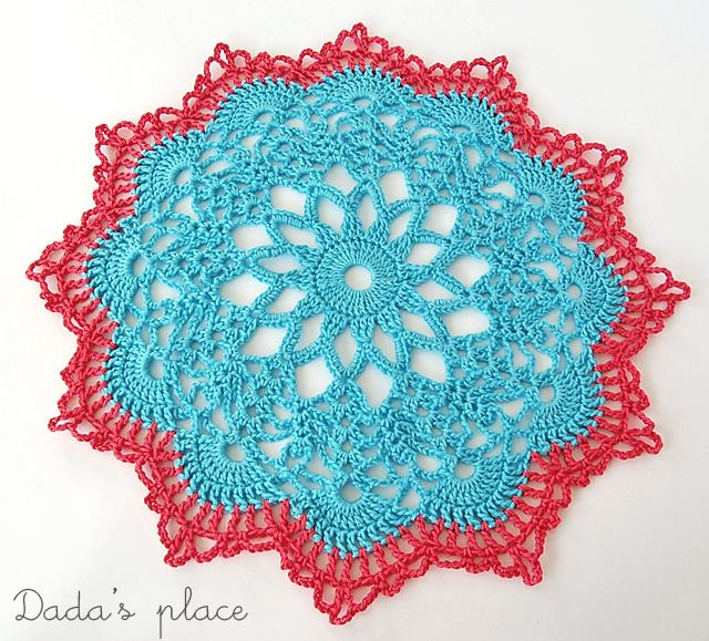 Dada\'s place: Doily from free charted pattern by anabelia here: http ...