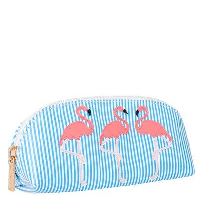 Blue Stripe Sunglass Cases with Watermelon 3 Flamingoes - LoloBag