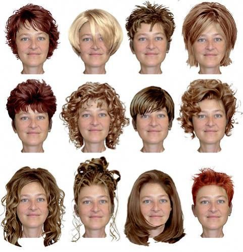 Virtual Hairstyle Makeovers Short Hair Styles For Round Faces Round Face Haircuts Medium Hair Styles