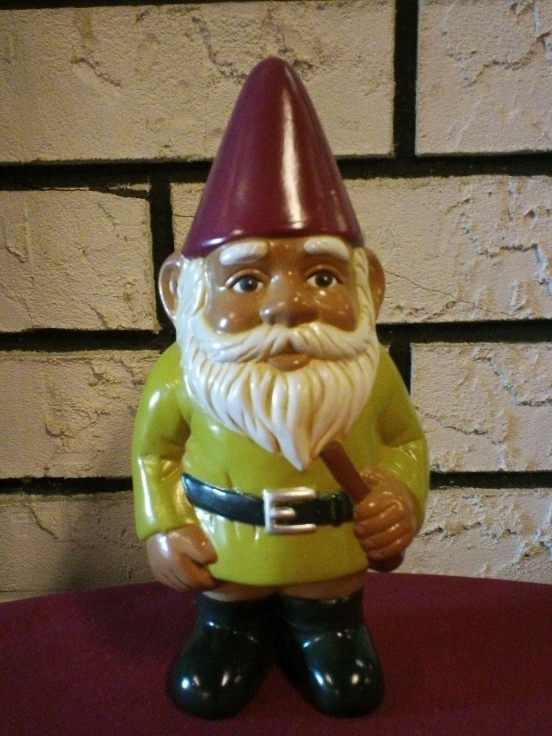 Hand Painted African American Garden Gnome | Items I Make For Sale ...