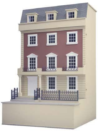 The Kensington Dolls House Kit In 1 12th Scale From Barbaras Mouldings Hobbies Kit Homes House Georgian Style Homes