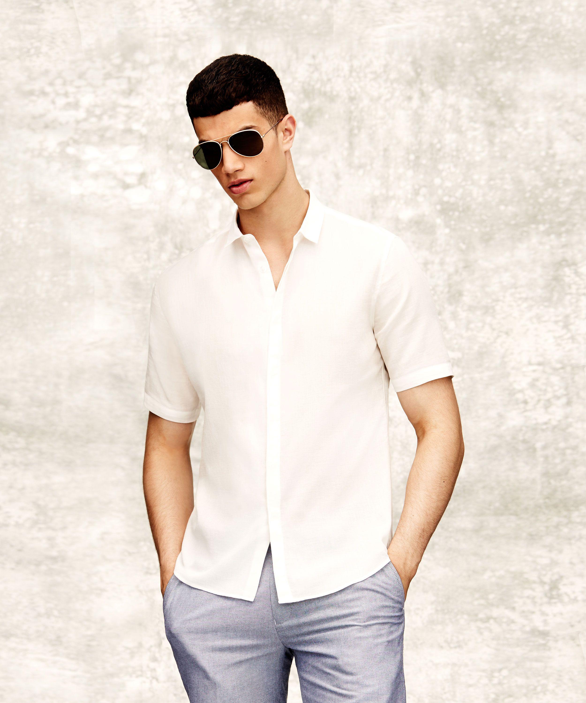 af4cbdac471 Topman white short sleeve shirt and black aviator sunglasses